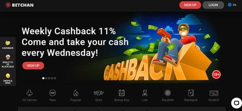 Betchan Casino Met Screen 1