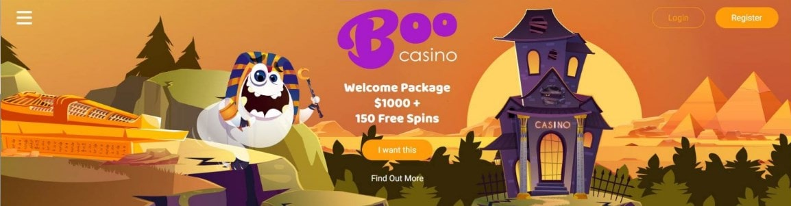 Boo Casino Welcome Package
