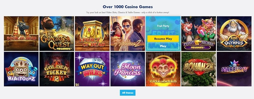 GoSlotty Casino Games