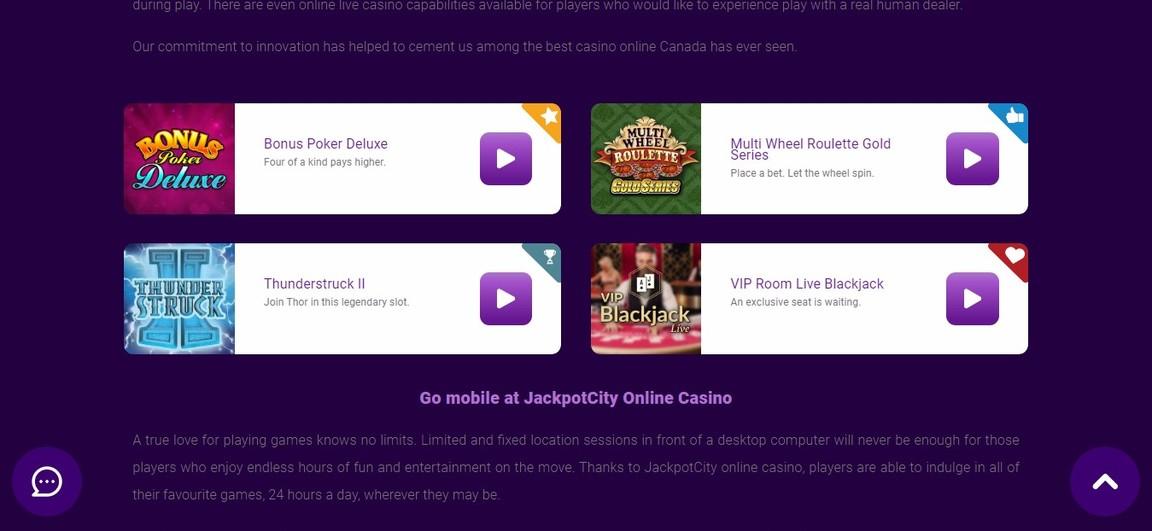 Jackpot City Сasino Games